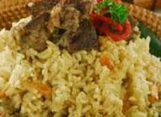 resep masakan indonesia nasi kebuli spesial khas betawi nikmat, gurih, sedap