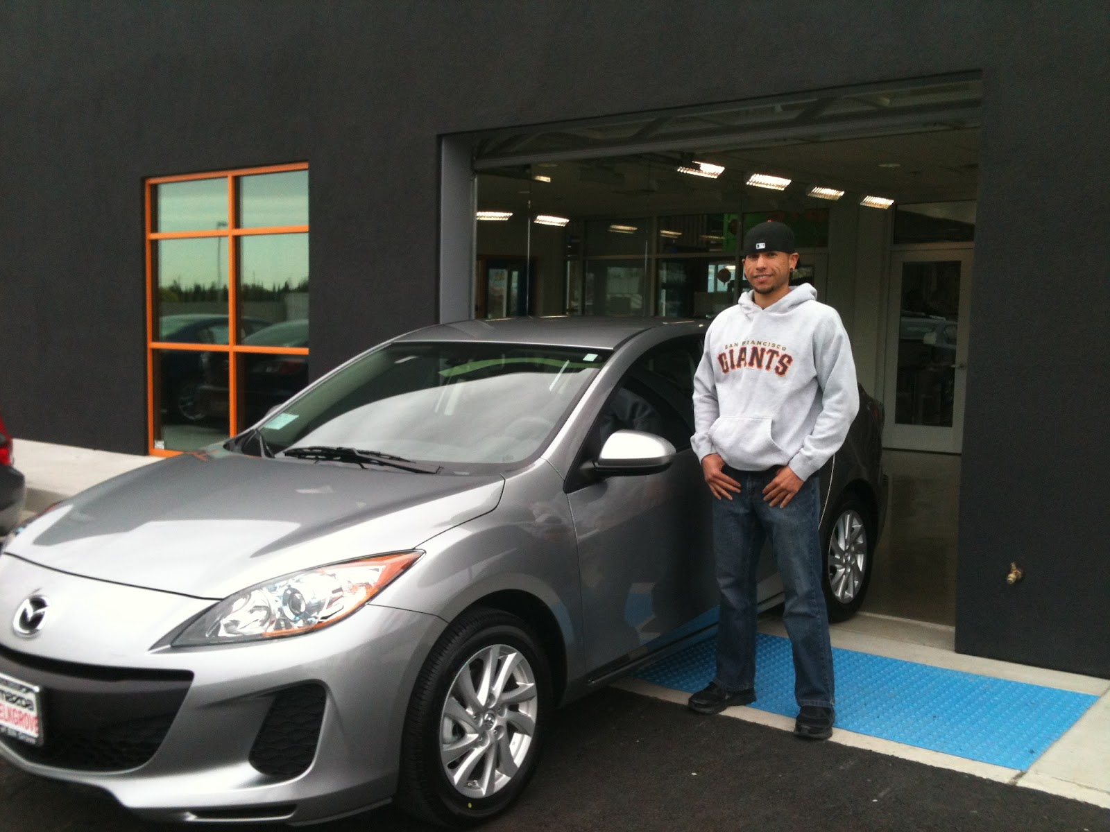 Juan Is Ready To Drive Off At Mazda Of Elk Grove With His New 2012 Mazda 3  Skyactiv!
