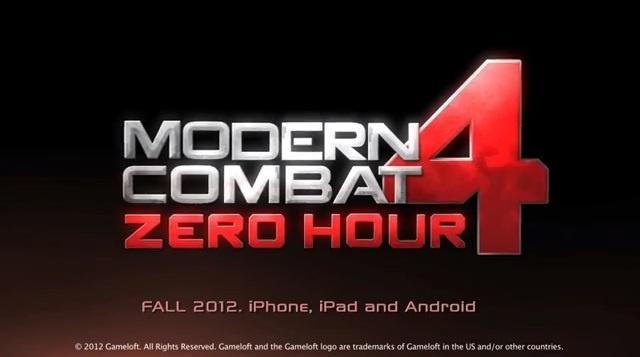 Modern Combat 4: Zero Hour .APK 1.0 Android [Full] [Gratis] [Datos SD]