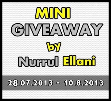 Mini Giveaway by Nurrul Ellani.