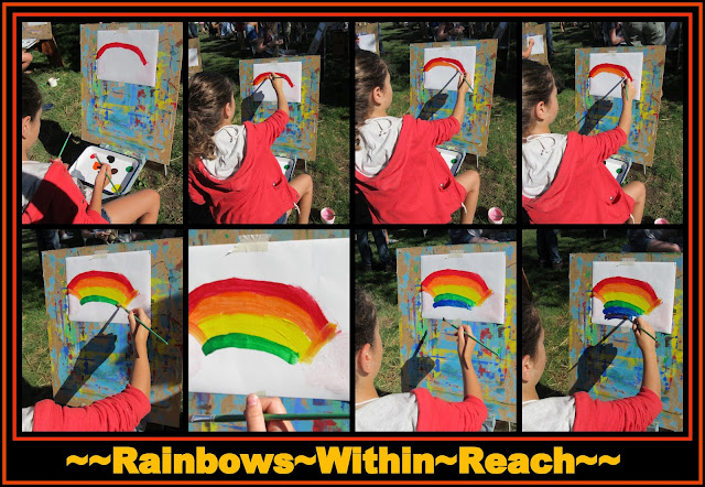 photo of: Child Painting a Rainbow at an Easel (via RainbowsWithinReach)