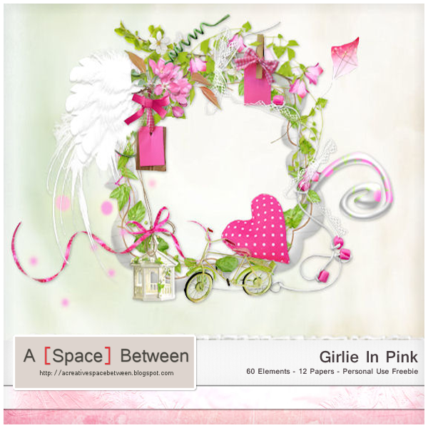 Scrapkit: Girlie In Pink