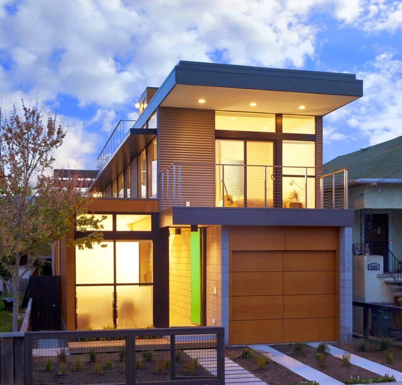 Contoh Desain Rumah Minimalis - 2 Lantai Type 45