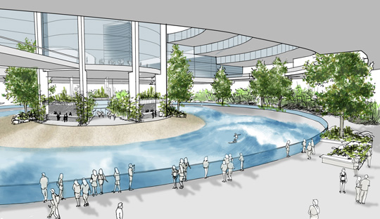 North county surf wavepool battle for Sport swimming pool design