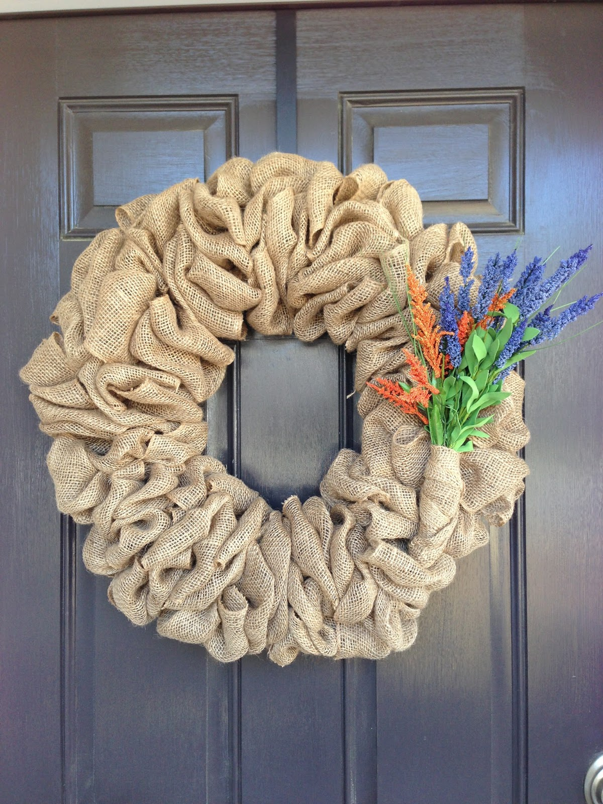 Little lovely leaders burlap wreath How to decorate a wreath