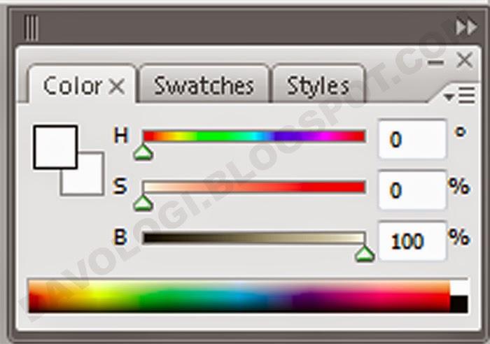 Bagaimana cara warna HSB Photoshop