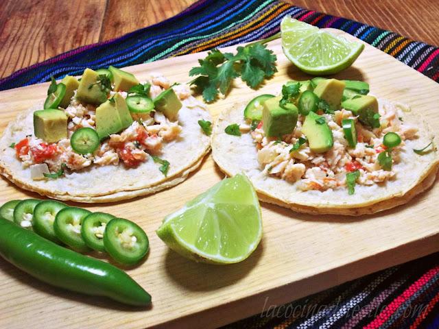 Tacos de pollo a la mexicana shredded chicken tacos la - Tacos mexicanos de pollo ...