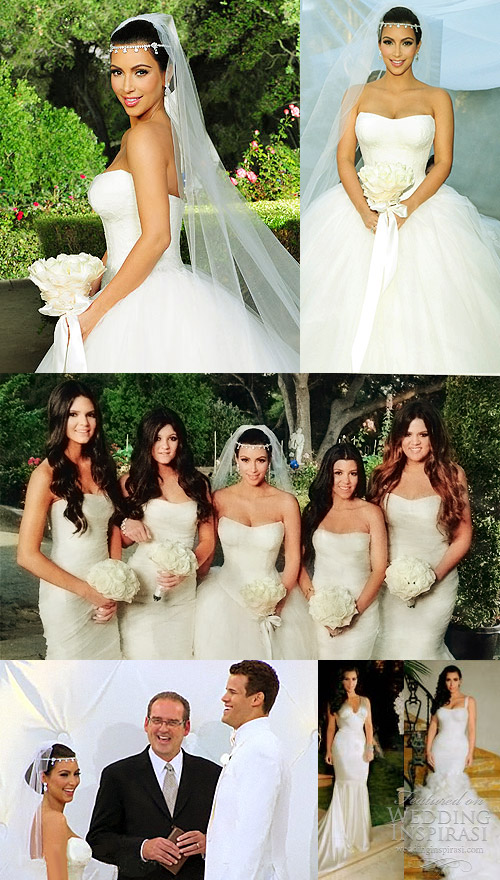Celebrity Gowns Kim Kardashian Wedding Dresses