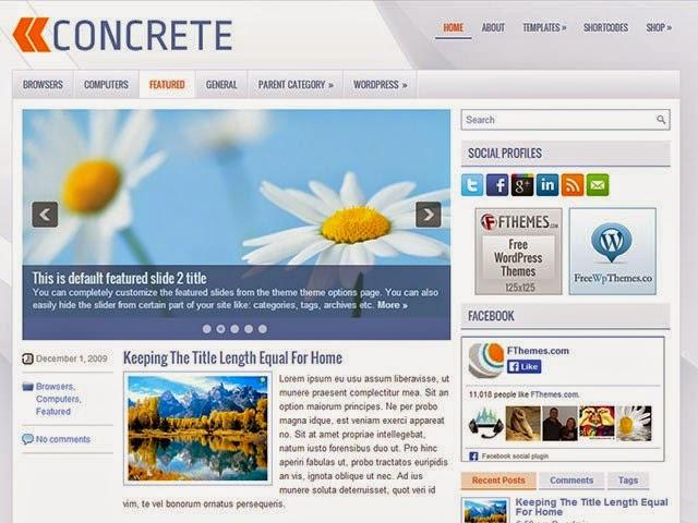 Concrete - Free Wordpress Theme