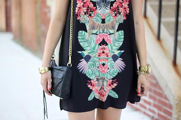 Gentle Fawn Paradise Jungle Print Dress