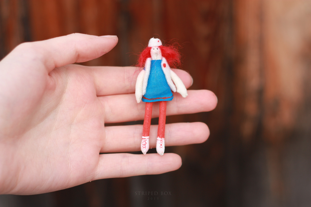 Miniature tilda doll