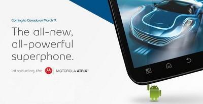 Bell Motorola Atrix coming to Canada