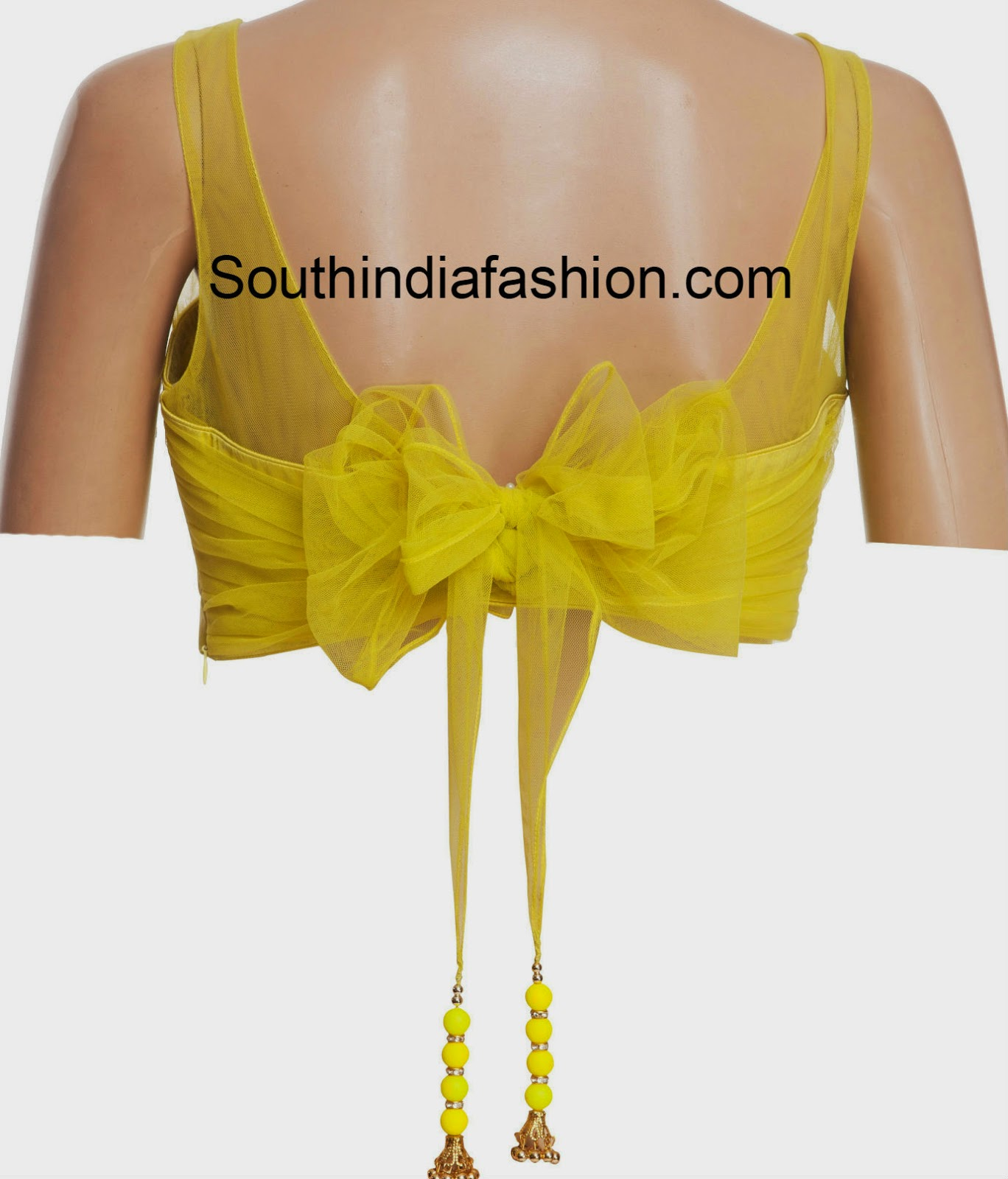saree blouse with bow