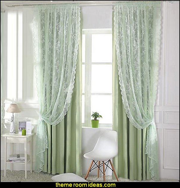 Sheer ruffled curtains