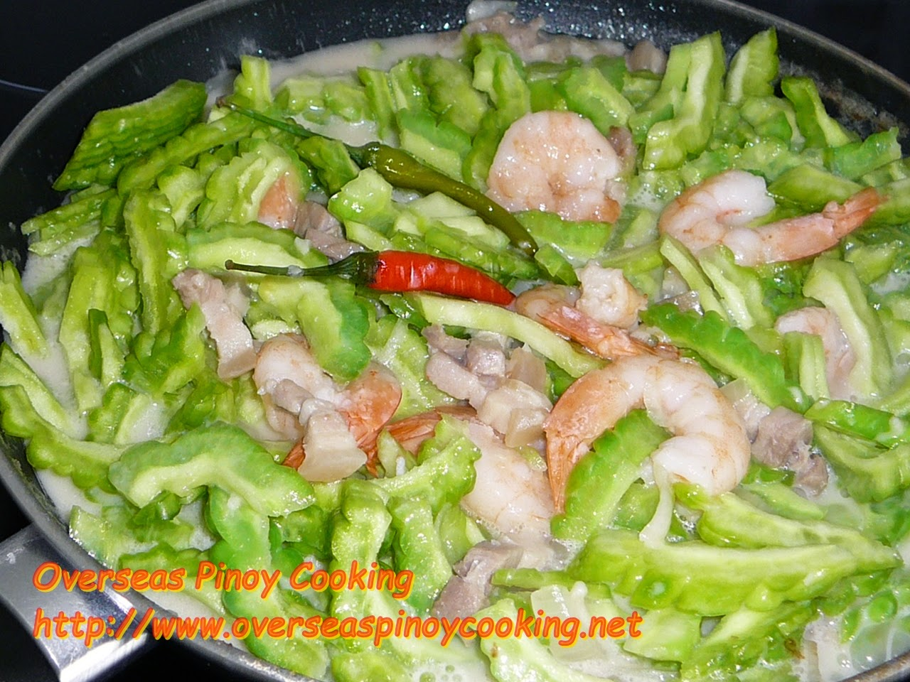 Ginataang Ampalaya - Cooking Procedure
