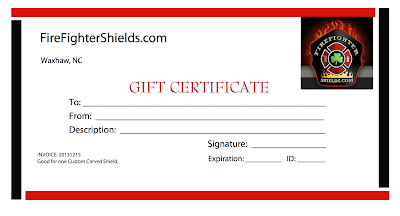 Gift Certificate From FireFighterShields.com