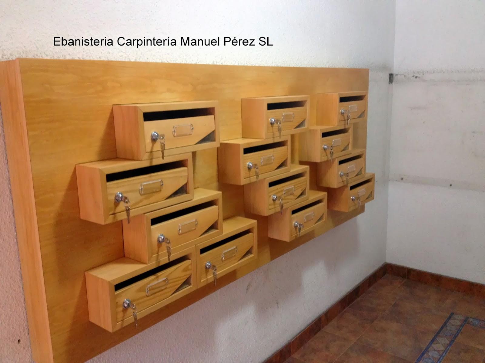 Ebanisteria carpinteria manuel perez zaragoza buzones for Buzones para comunidades
