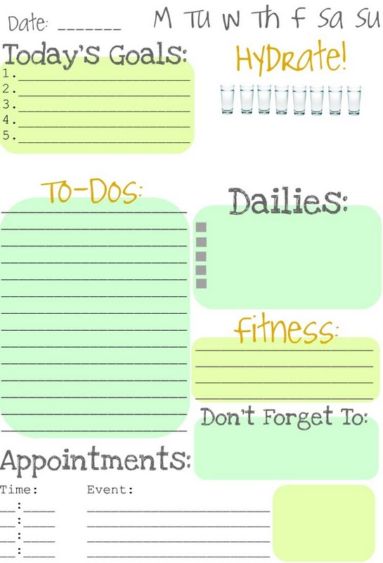 Daily Task List Template. Daily Task Checklist Template. Sample