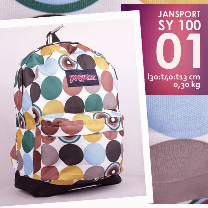 jual online tas ransel jansport murah motif bulat/ lingkaran