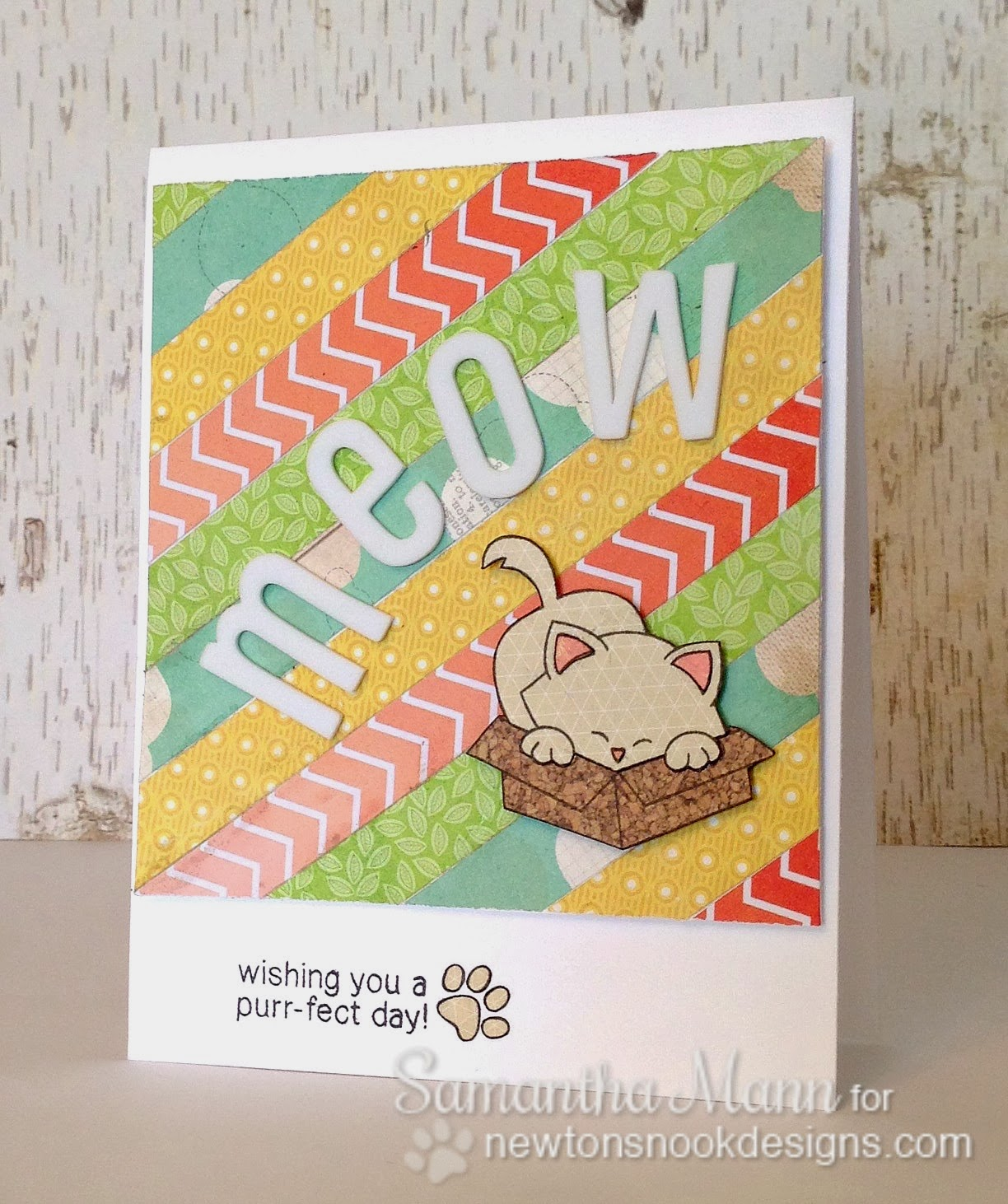 Inky Paws Challenge #6 by Samantha Mann using Newton's Antics Stamp Set
