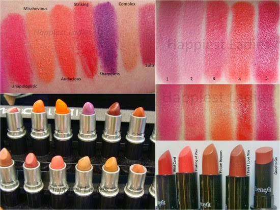 lipsticks swatches best of 2014