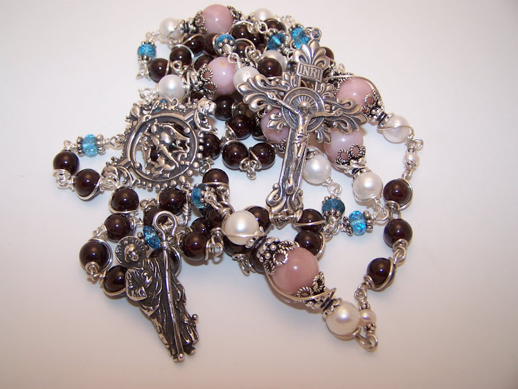 Rosary Of St. Michael and St. Jude, Custom Made for a client in Singapore (SOLD)