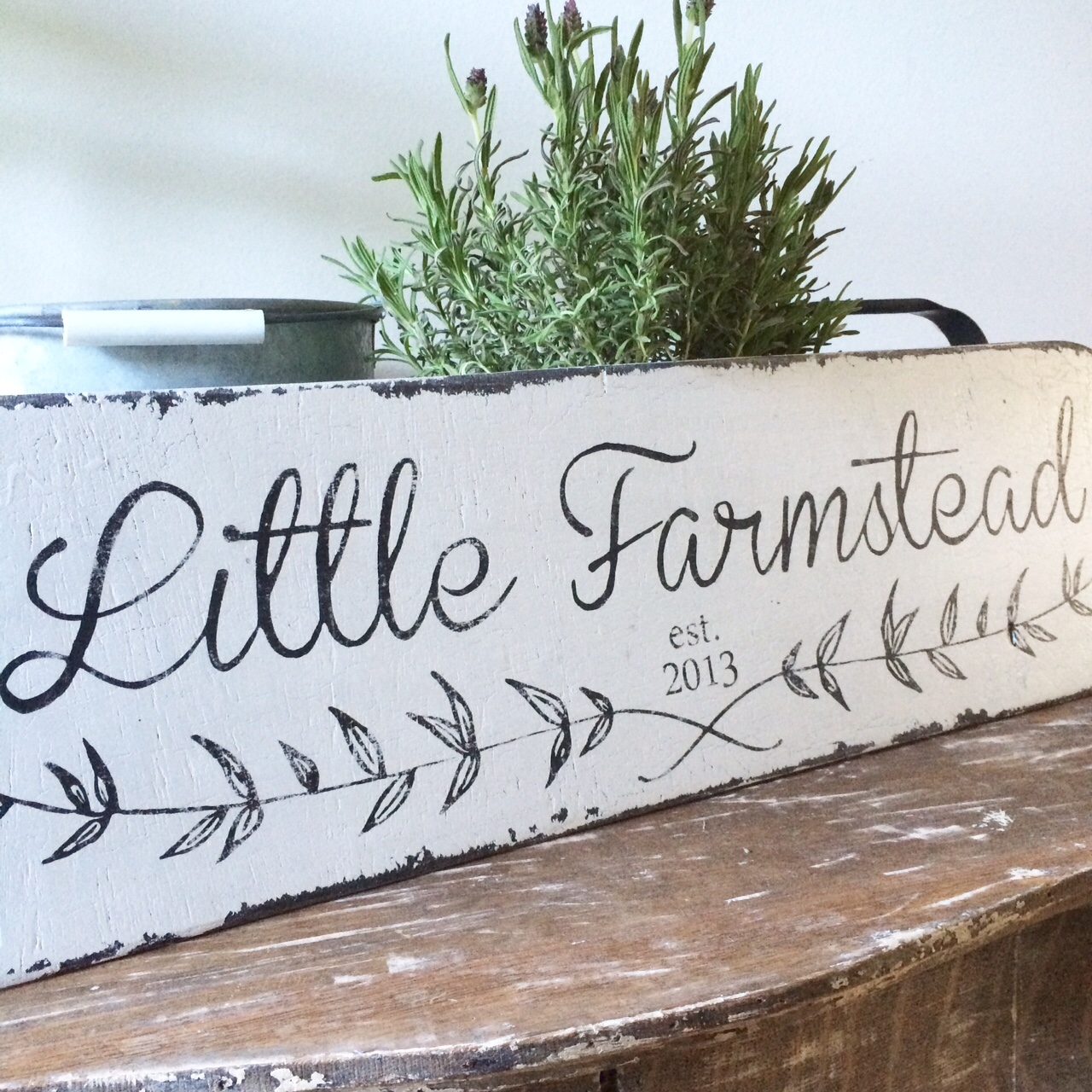 Little Farmstead A Custom Vintage Farmhouse Style Sign