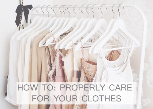 Jordy's Beauty Spot: HOW TO: PROPERLY CARE FOR YOUR CLOTHES