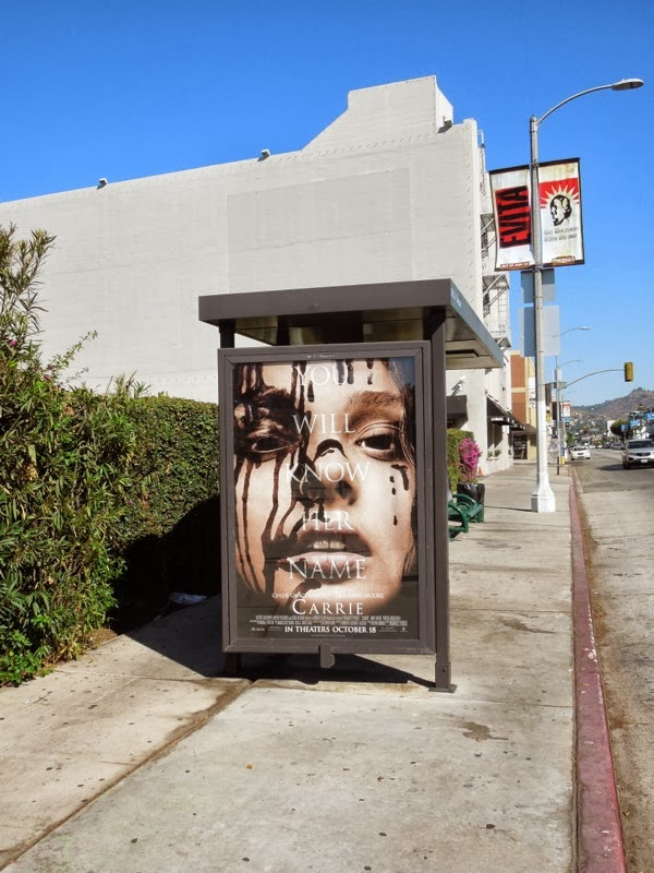 Carrie movie remake bus shelter poster
