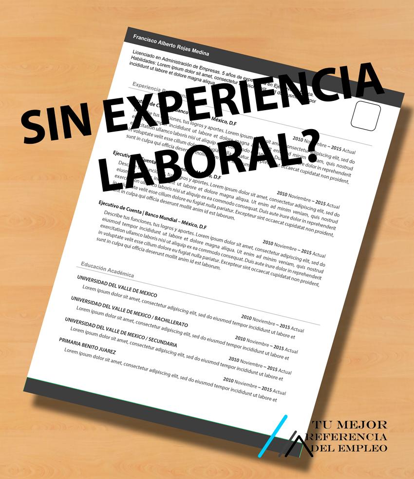 Famoso Hacer Un Currículum Sin Experiencia Laboral Viñeta ...