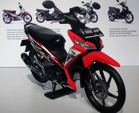 New Honda Supra X 125 PGM Fi 2014   Black and Silver