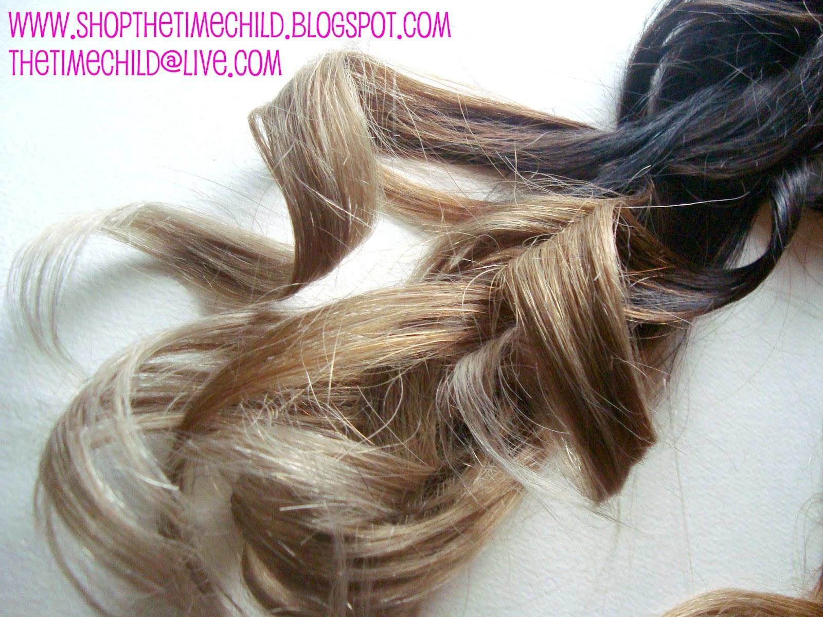Thetimechild Ombre Dip Dye Rainbow Pastel Hair Extensions