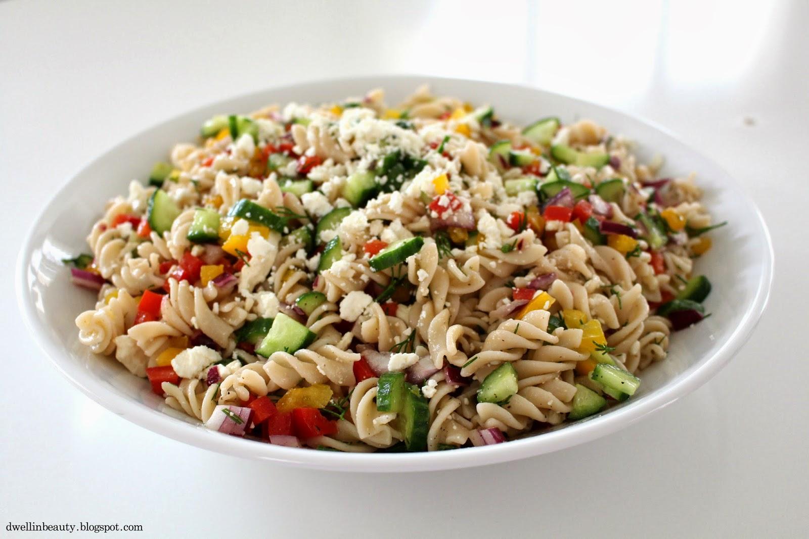 Dwell in Beauty: Dill & Veggie Garden Pasta Salad