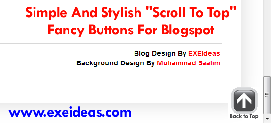 "Simple And Stylish ""Scroll To Top"" Fancy Buttons For Blogspot"