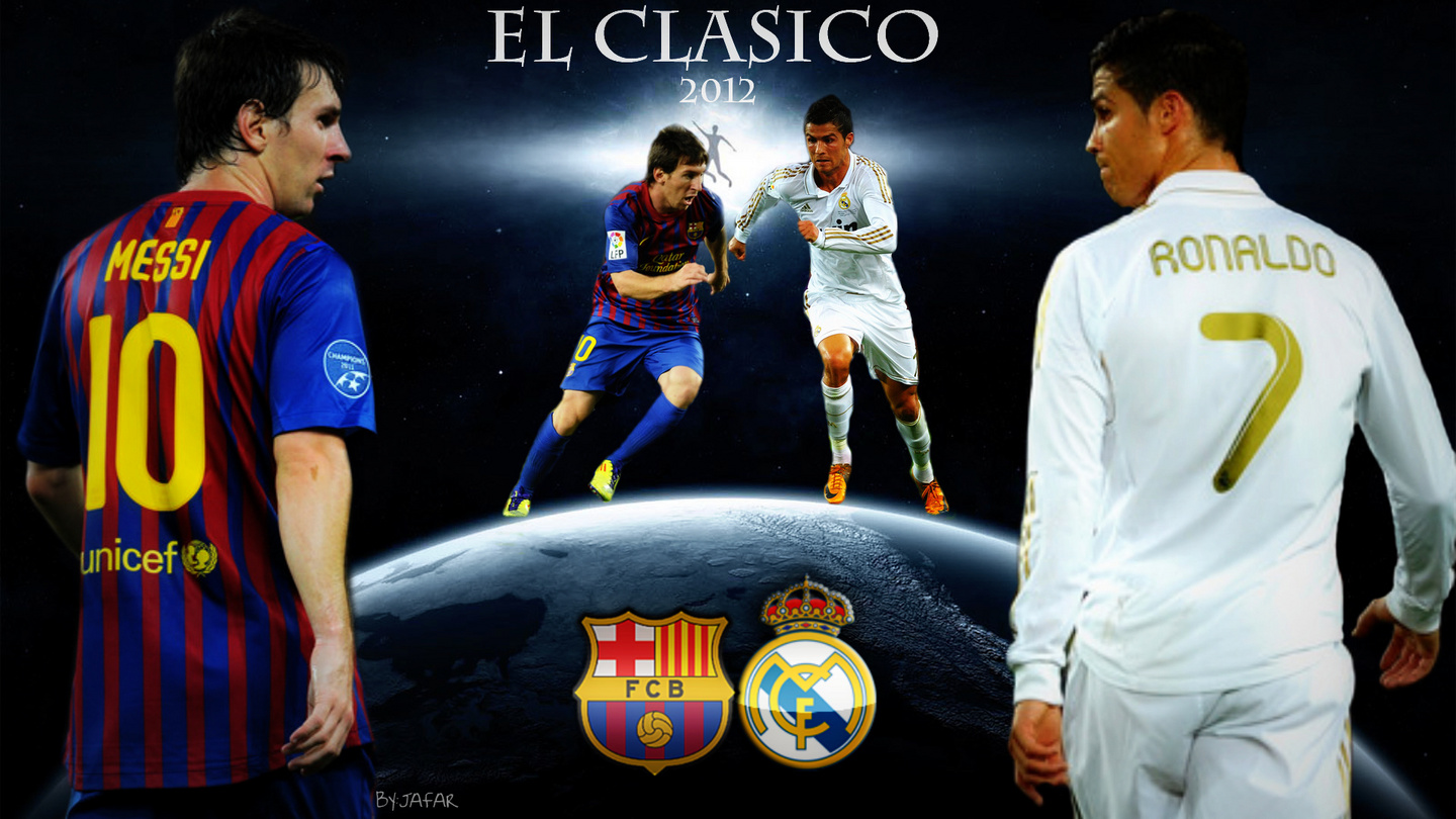 Lionel Messi Vs Cristiano Ronaldo Wallpapers 2013