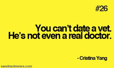 cristina yang dating advice