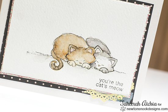 Cat's Meow Card by Taheerah Atchia  | Newton's Antics Stamp set by Newton's Nook Designs