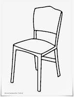 Gambar Kursi Untuk Diwarnai