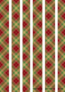 Cuadros de navidad en rojo y verde