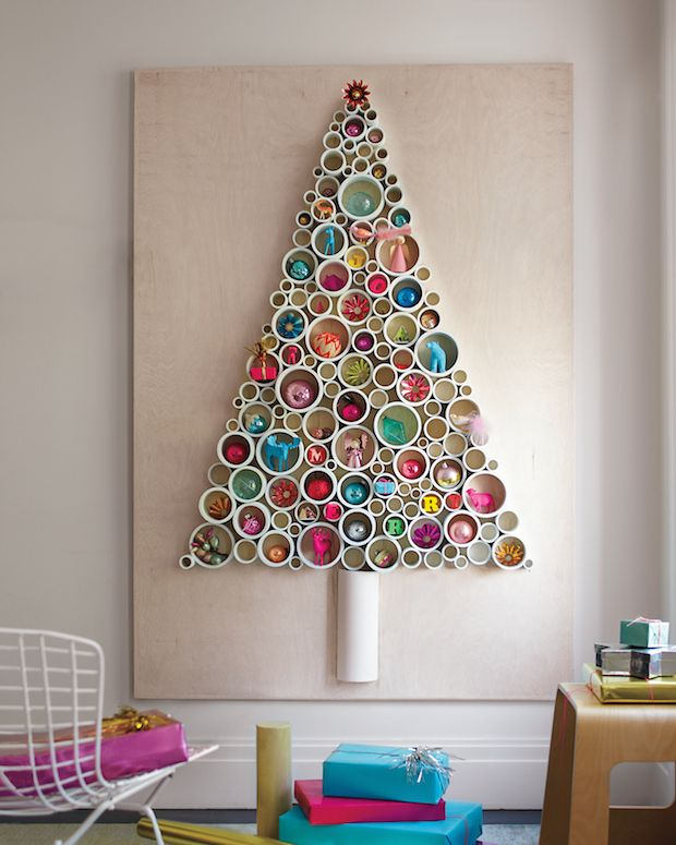 DIY unique Christmas trees for Christmas decorations 2015 / 2016