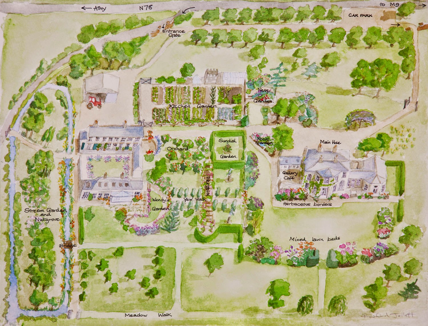 The beautifully illustrated map of Burtown House