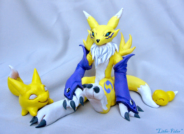 Renamon Figure and Baby forms por Lithe-Fider