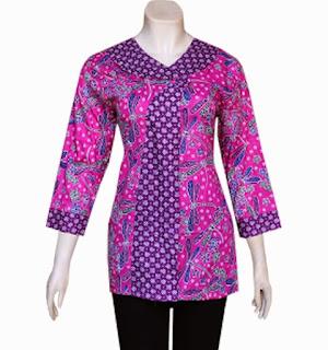 Foto Baju Batik Madura Kombinasi
