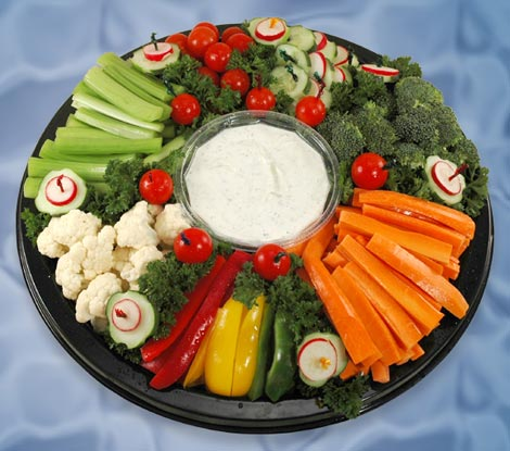 Maxys Hideout Holiday Vegetable Trays amp Fruit Salad