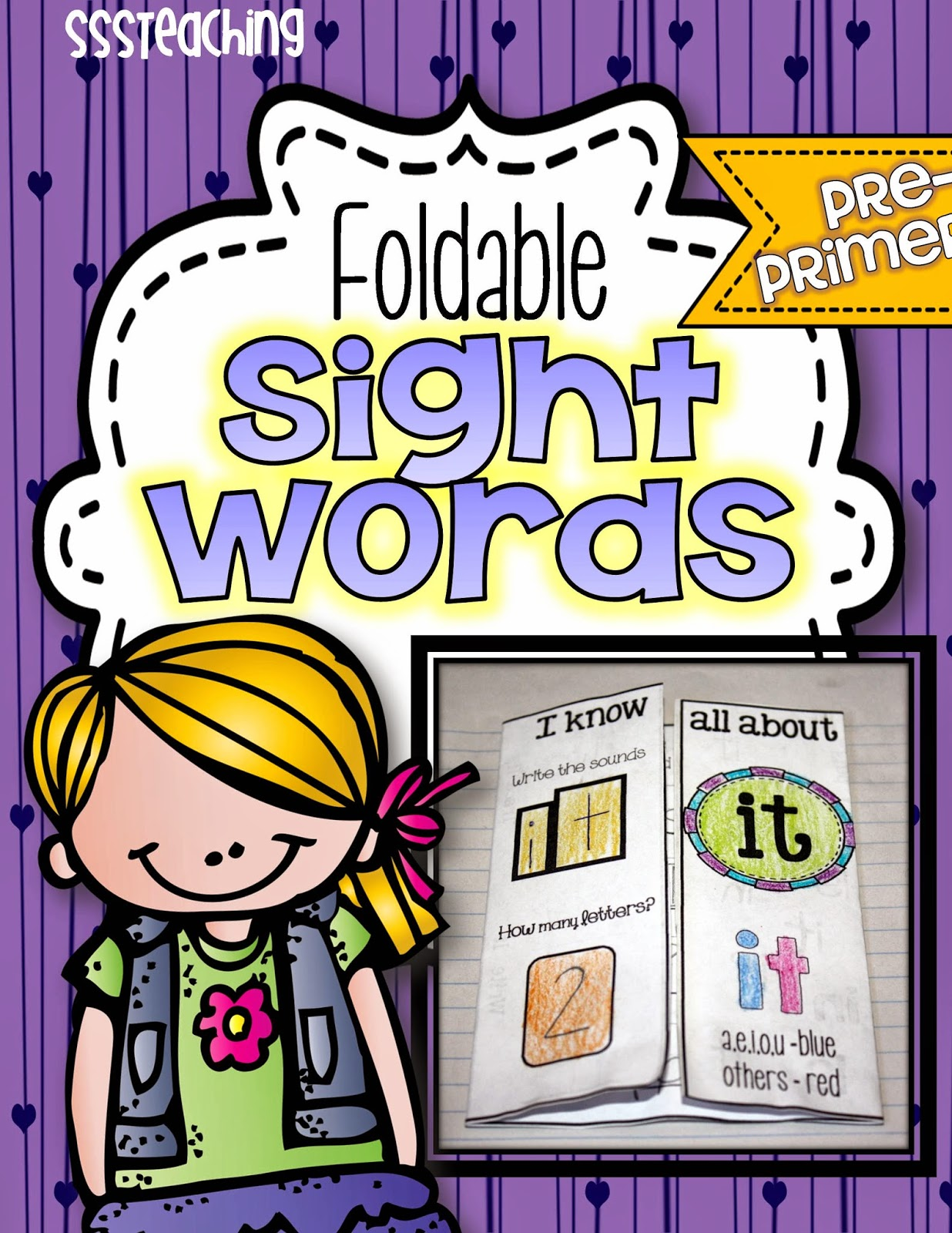 Interactive Foldable Sight Words: Pre-Primer - SSSTeaching