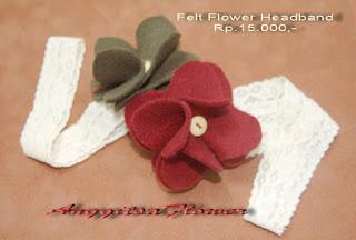 Headband Bayi bunga flanel