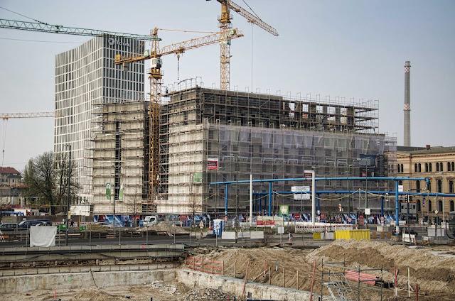 Baustelle Ibis Hotel und Hotel Amano, Invalidenstraße, gegenüber Hauptbahnhof, 10557 Berlin, 03.04.2014
