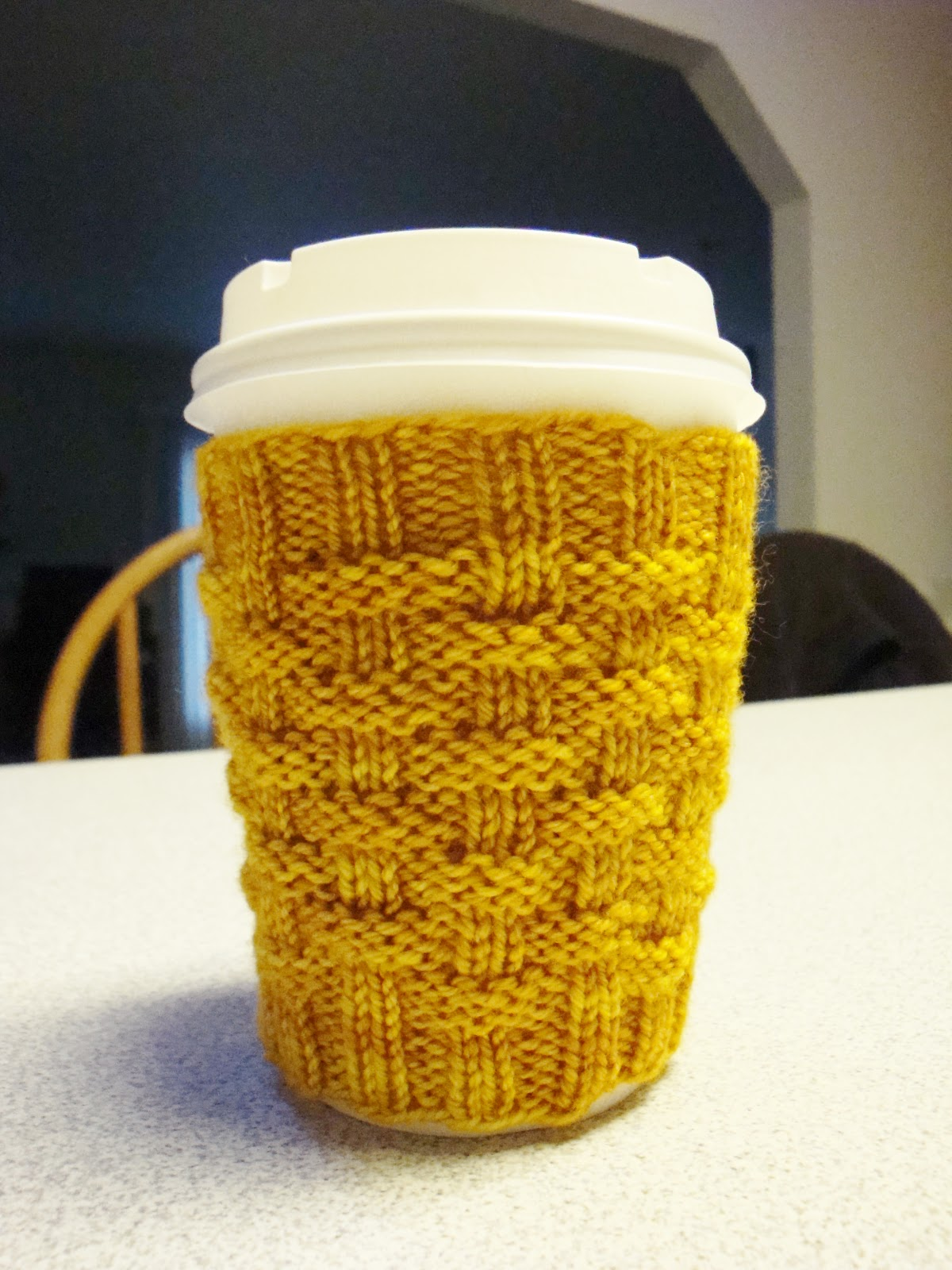 Kim\'s Knitting Korner: Cashmere Coffee Cup Cosy