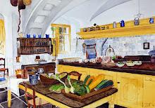 Keuken uit vroegere tijden va Kasteel Amerongen