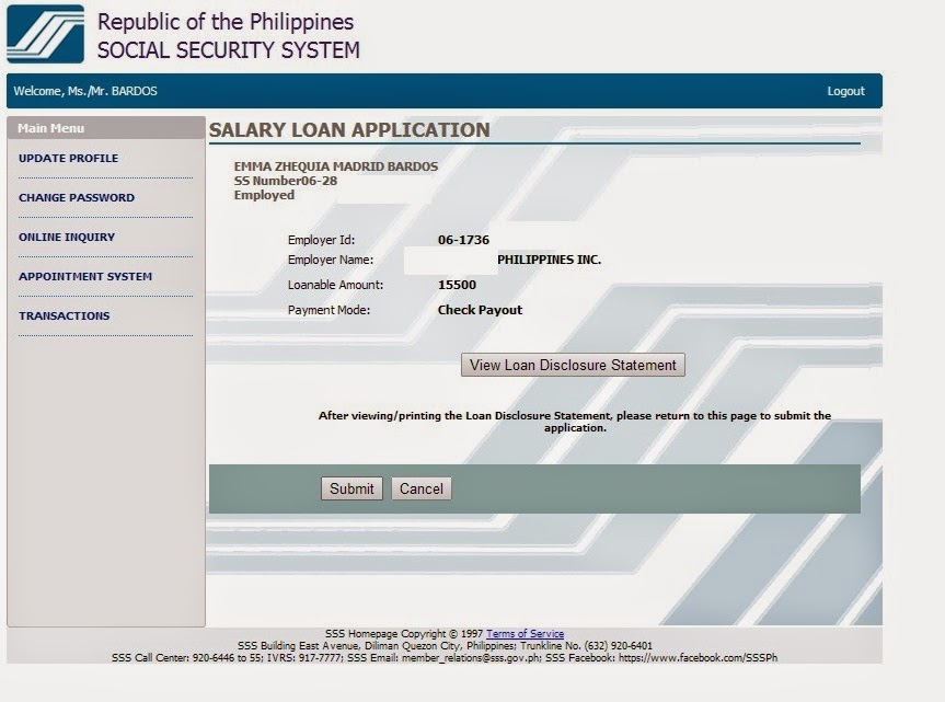 Sss online loan application food travel and whatevs - Can i check my post office account online ...